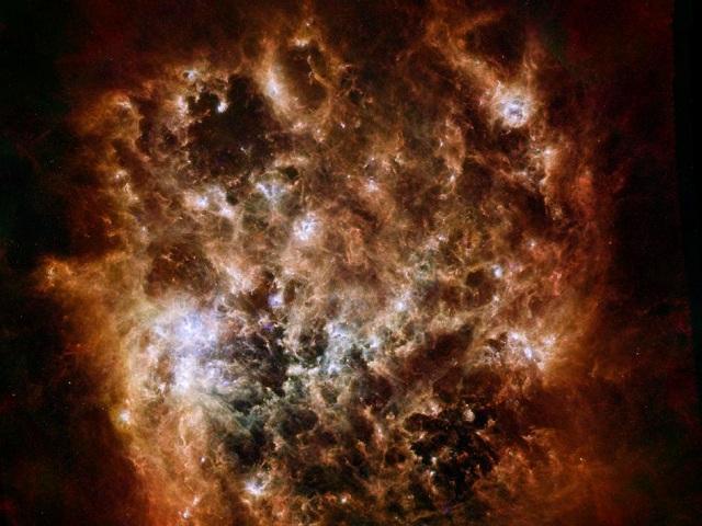 Magellanove mraky podľa Herschelovho zariadenia