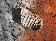 Prvý človek na mesiaci. Foto: NASA