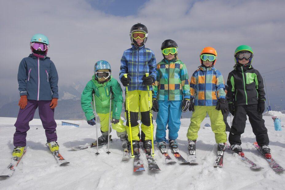 Deti lyžiari